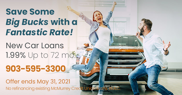 New Car Loans 1.99% up to 72 months